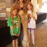 picture with kids and a mammoth bone from Wenas Mammoth dig