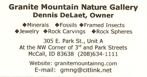 bus. card image of Granite Mountain Nature Gallery