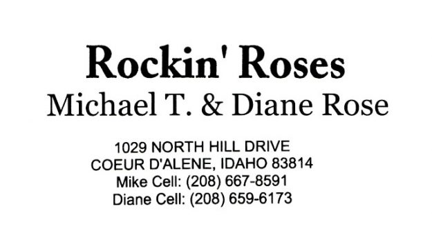 bus. card image of Rockin' Roses