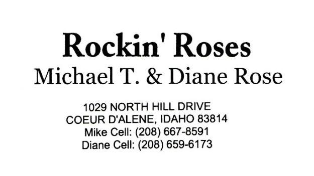 bus. card image of Rockin' Roses